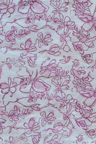 Hand Block Printed Organic Cotton - Cream