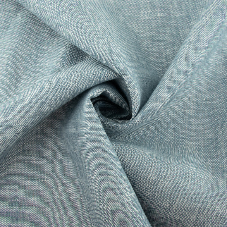 Organic Yarn-dyed Linen - Poolside