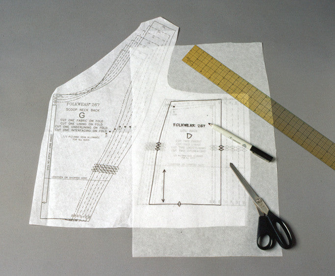 S60 Pattern Tracing Fabric Folkwear Inspiration Pattern Tracing Paper
