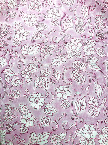 Hand Block Printed Organic Cotton - Pink