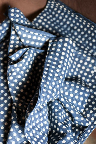 Indian Polka Dot Cotton - Indigo