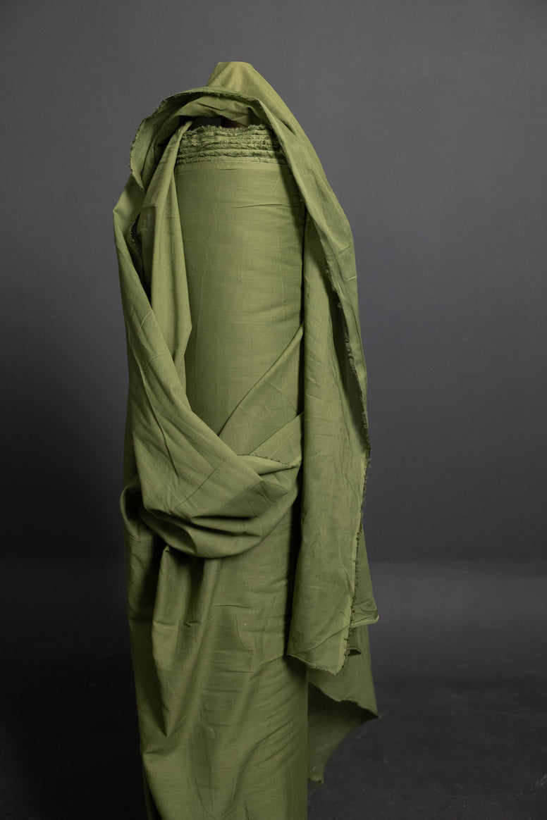 Organic Cotton Voile - Green