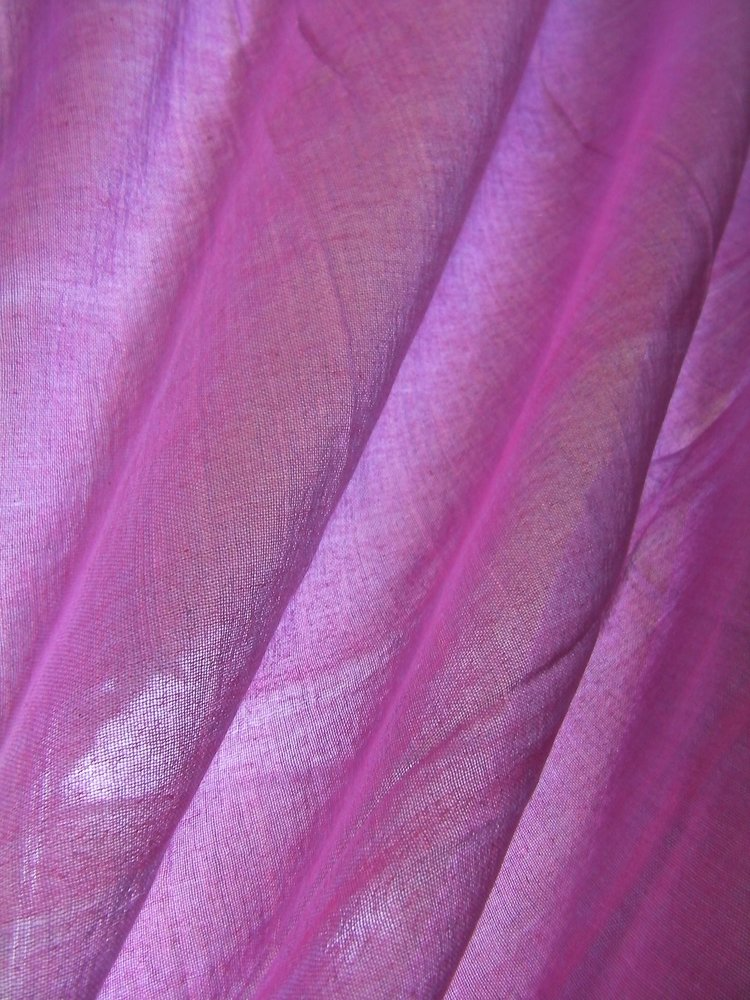 Organic Cotton Sheer Voile - Raspberry