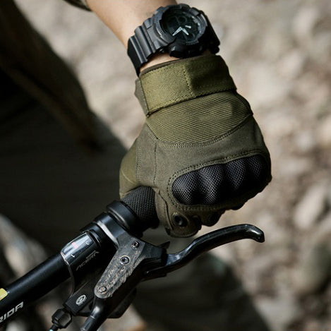 Army Tactical Carbon Knuckle Cycling Full Finger Gloves