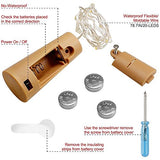 8 Packs Cork Lights for Wine Bottle, Fairy String Leds Shape Battery Silver Wire for Bottle Party