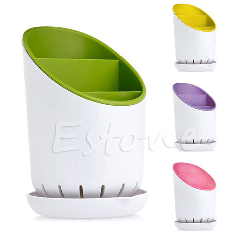 Utensil  Storage Organizer And Drainer Optional Colors