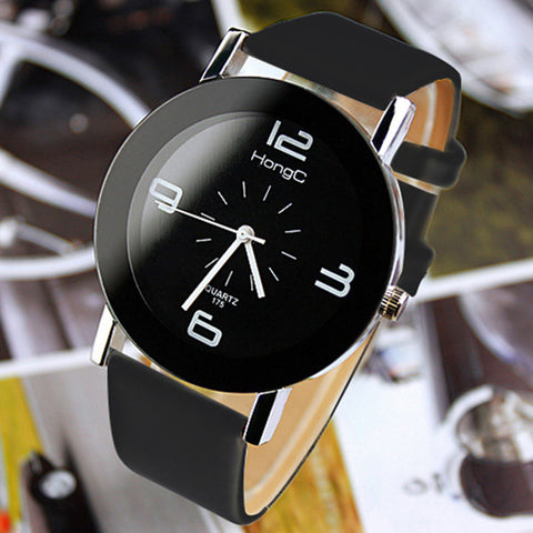 Fashion Wristwatch Fashionable Unique Leather Watchband Watch Women Quartz Dress Watch