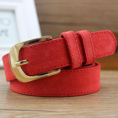 Low-Priced Women's Wide Belt Smooth Alloy Buckle Of High-Quality Energy-Saving 10 Color Optional