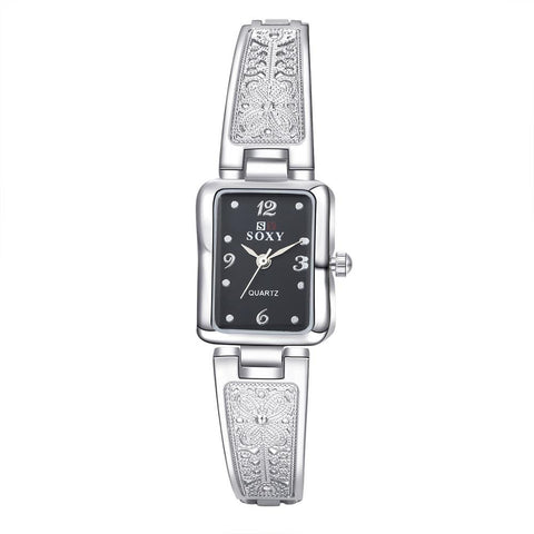 Sexy  Black Gold And White Ladies Watches