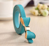 Fabulous Beautiful Vibrant Bow Leather Ladies Belt