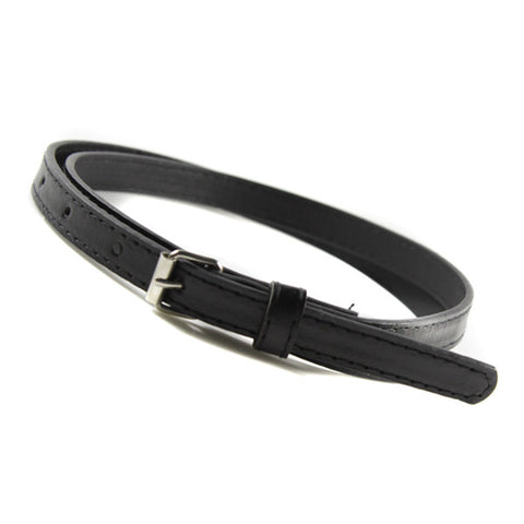 Multi Color Thin Skinny Faux Leather Waistband Womens Ladies Casual Belt Strap