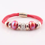 Appealing Strand Drop Leather Women Bracelets