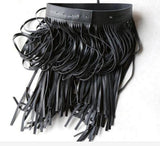 Unique Cute Makes A Statement Tassel Faux Leather Belts Black And White