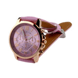 New Casual Watch Women Dress Watches Roman PU Leather Quartz Wristwatch For Women Men