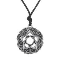 Star Rose Minimalist Pagan Pentagram Flower Men Necklace Women