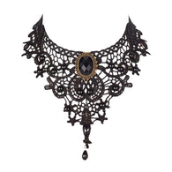 Classical Pendant Plant Shape Lace Choker Necklaces
