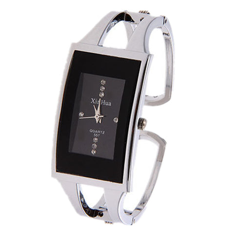 Finest Stainless Steel Glass Dial Casual Watches Black Or White