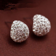 Jewelry Fashion Vintage Full Crystal Crescent Stud Earrings Beatles Earrings
