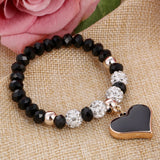 Cute Collection Of This Heartwarming Crystal Rope Chain Bracelets 6 Different Colors