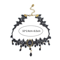 Sophisticated Black Lace Choker Collar Necklaces For A Special Occasion