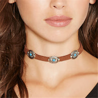 2017 New Brown Leather Rope Necklaces Goth Fashion Designer Collar Chokers Necklace For Women