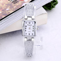 Love-Able Rectangle Shape Stainless Steel Silver And Gold Wrist Watches