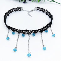 2017 Black Lace Necklaces For Women Fashion Rhinestone Choker Necklaces Fine Jewelry Collares Hot