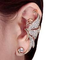 Essential New Fashion Women's Cute Crystal Butterfly Wings Ear Clip Clamp  Earring Fashion Jewelry