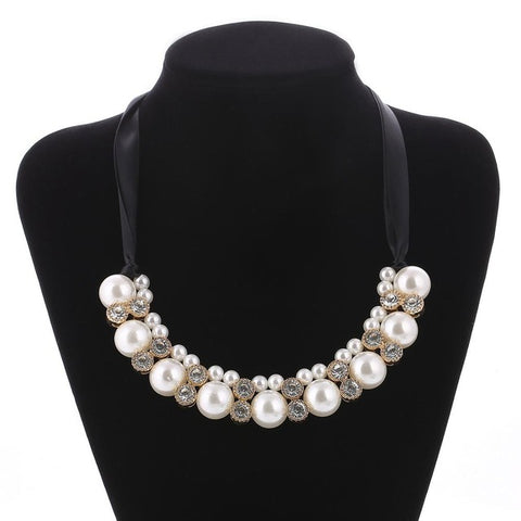 Ladies Pearl Rope Chain String Imitation Pearls Beads & Pendants Necklaces