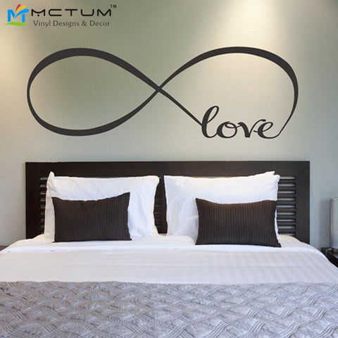 Love Quote Infinity Symbol Bedroom Decals