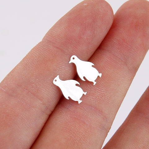 Cartoon Penguin Stud Earrings For Girls Women