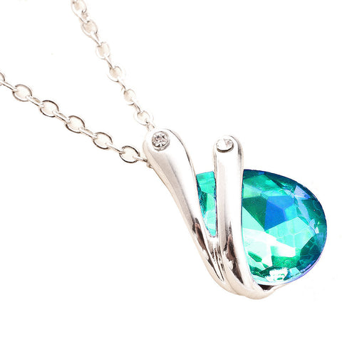 Crystal Pendant Necklace 6 Different Colors