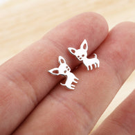 Chihuahua Earrings For Women Girls Cute Dog Stud Earrings