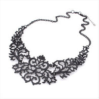 Newest Jewelry For Women 3 Colors Hollow Flower Vintage Gold Plated Necklaces
