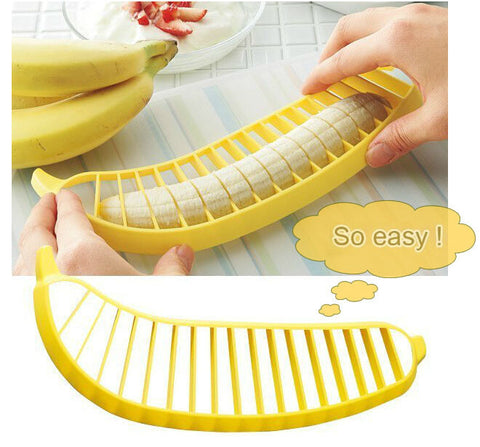 So Easy Plastic Yellow Banana Slicers
