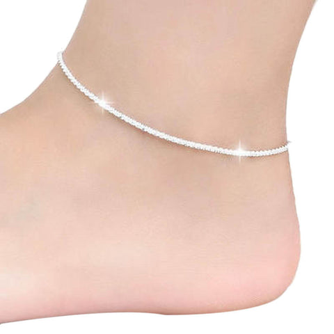 Super Deal, Hemp Rope Women Chain Anklets Barefoot Beach Girls Anklets Foot Jewelry  High Quality