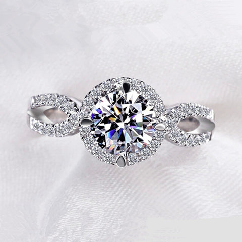 Awesome Circular Rhinestone Wedding Bands Rings
