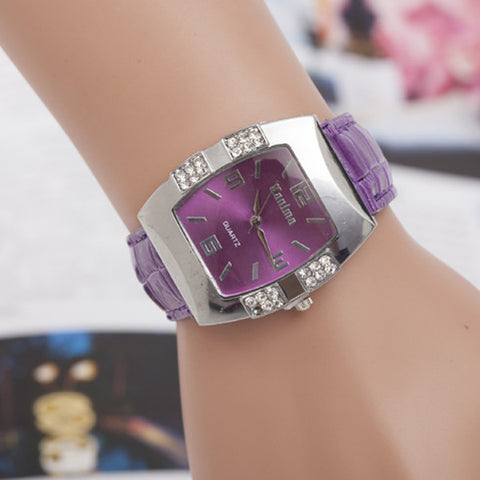 Hot Stainless Steel Casual Rhinestone Watch