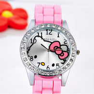 Cute Hello Kitty  Wristwatches For Women Stainless Steel