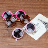 Children Cute Retro Circular Sunglasses 6 Different Colors