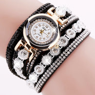 Women Bracelets Watch Crystal Round Dial Luxury Wristwatch