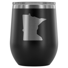 Minnesota Wine Tumbler in Black