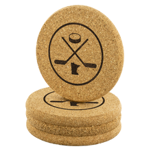 Minnesota Hockey Cork Coasters Set of 4