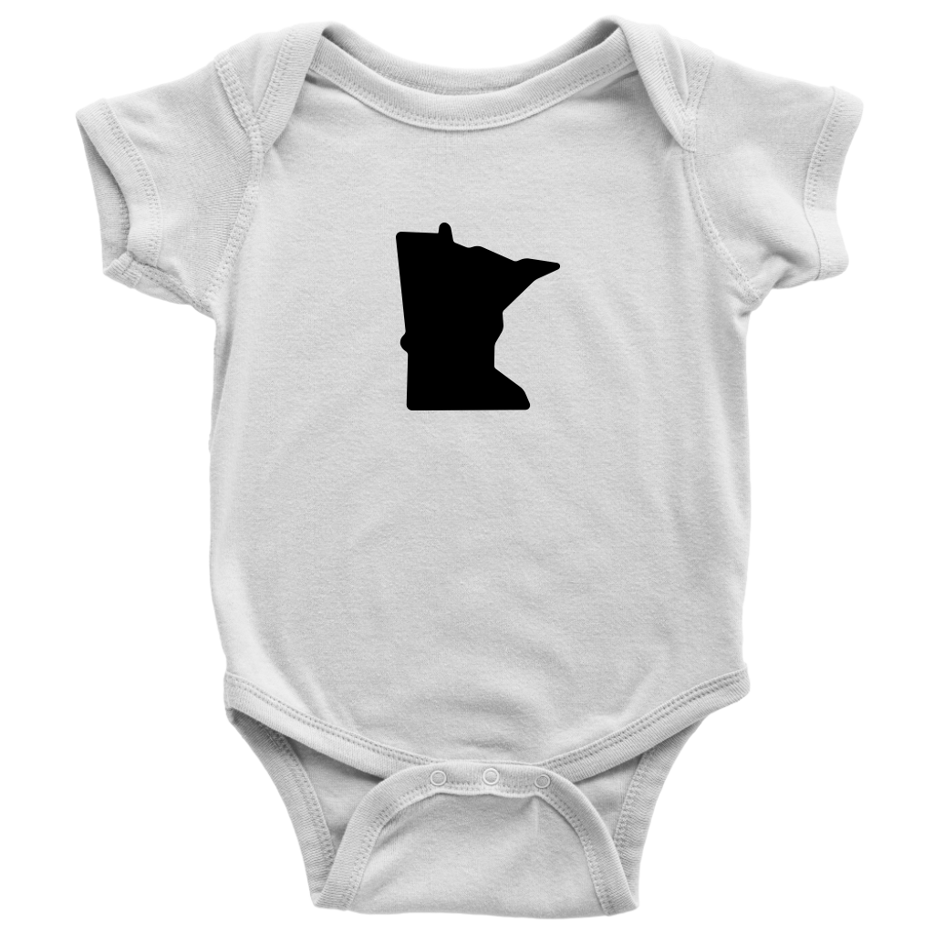 Minnesota Baby Onesie in White