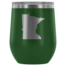 Minnesota Wine Tumbler in Green