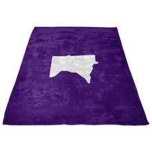 Minnesota Fleece Blanket in Purple and White Side View