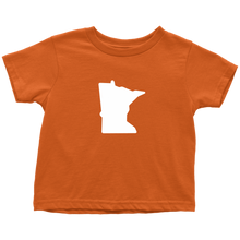 Minnesota Toddler Tee in Orange