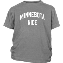 Minnesota Nice Block Youth Tee in Grey