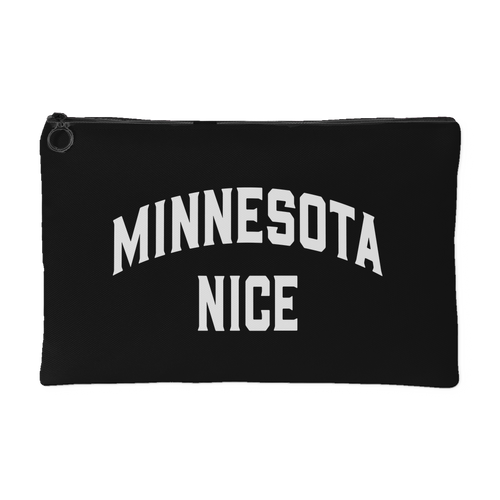 Minnesota Nice Block Accessory Pouch in Black and White Small