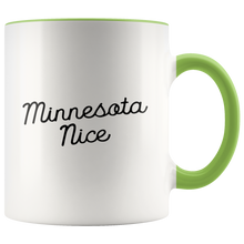 Minnesota Nice Script Accent Mug in Green